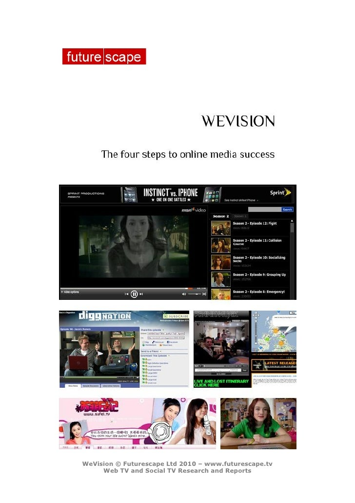 WeVision – discover how the most successful Web TV shows engage their audiences