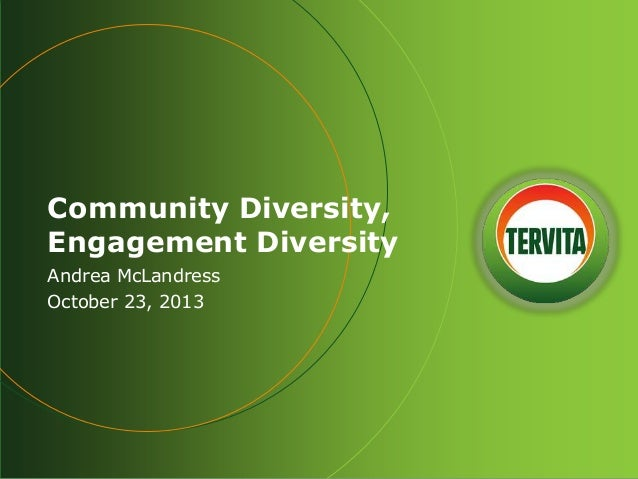 Community Diversity, Engagement Diversity by Andrea McLandress