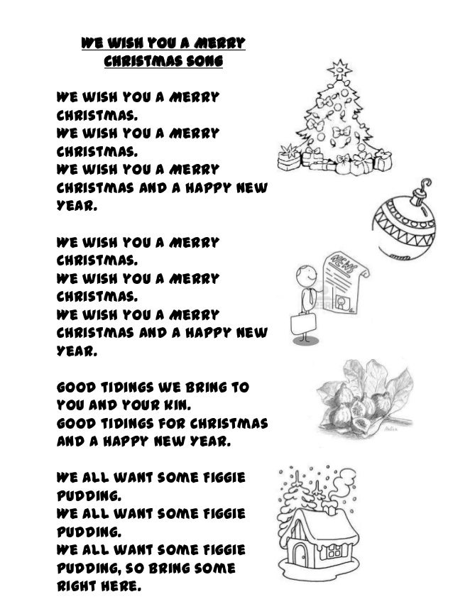 It is a photo of Wild We Wish You a Merry Christmas Lyrics Printable