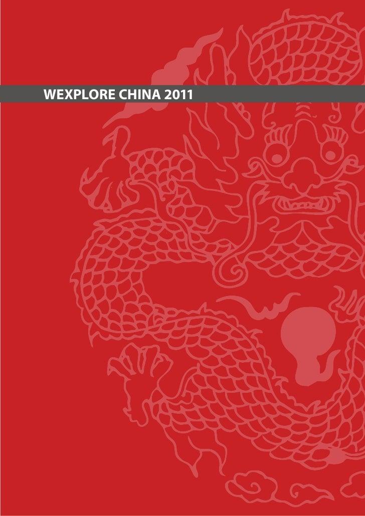 WEXPLORE China 2011 Brochure