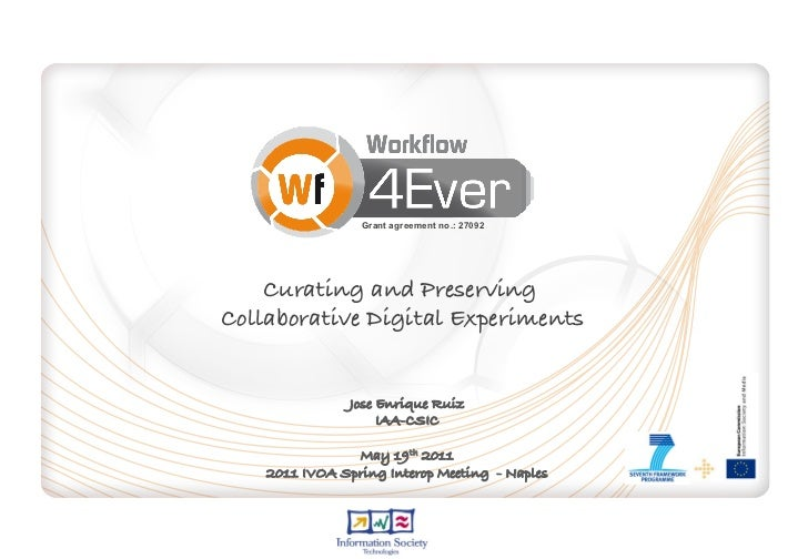 Curating and Preserving Collaborative Digital Experiments