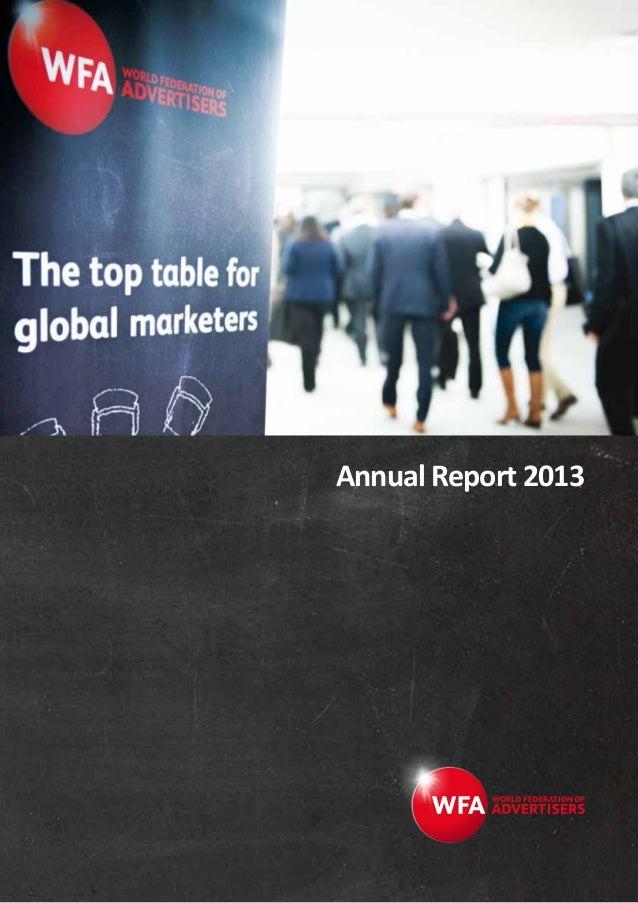 WFA Annual Report 2013