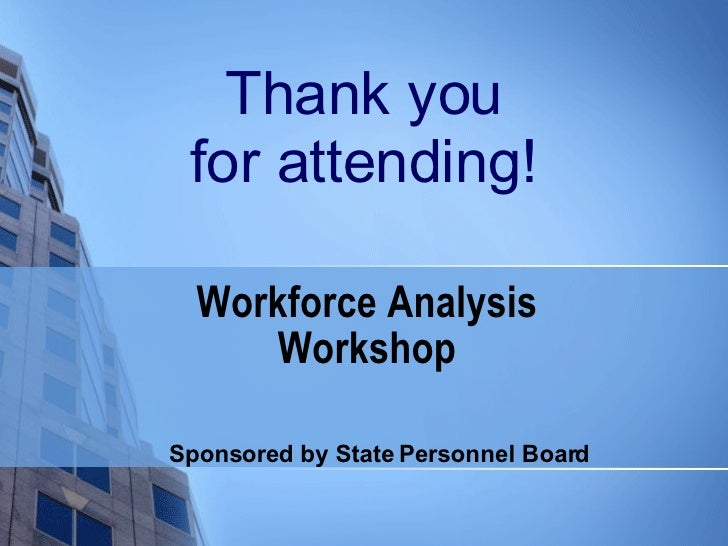 an introduction to the analysis of the workforce Tools for building and developing the wsdot workforce  introduction online recruitment  workforce analysis and growth.