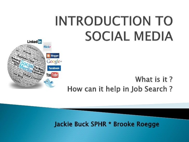 Introduction to Social Media for Job Counselors