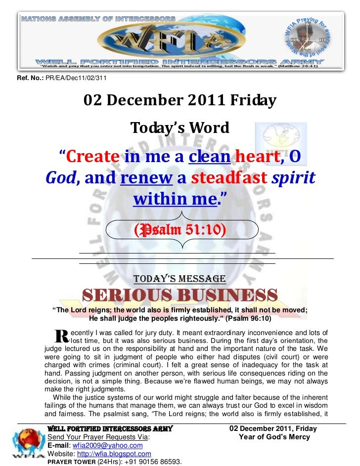 Ref. No.: PR/EA/Dec11/02/311                    02 December 2011 Friday                                   Today's Word    ...