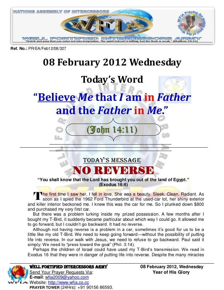 Ref. No.: PR/EA/Feb12/08/327                08 February 2012 Wednesday                                   Today's Word     ...