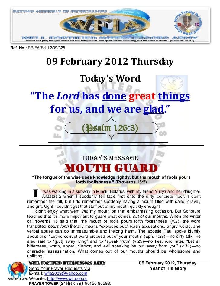 Ref. No.: PR/EA/Feb12/09/328                  09 February 2012 Thursday                                   Today's Word    ...