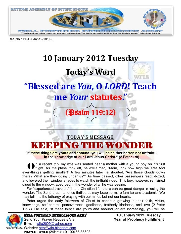 Ref. No.: PR/EA/Jan12/10/320                     10 January 2012 Tuesday                                   Today's Word   ...