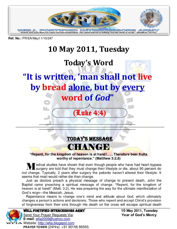 Ref. No.: PR/EA/May11/10/247                         10 May 2011, Tuesday                                   Today's Word  ...