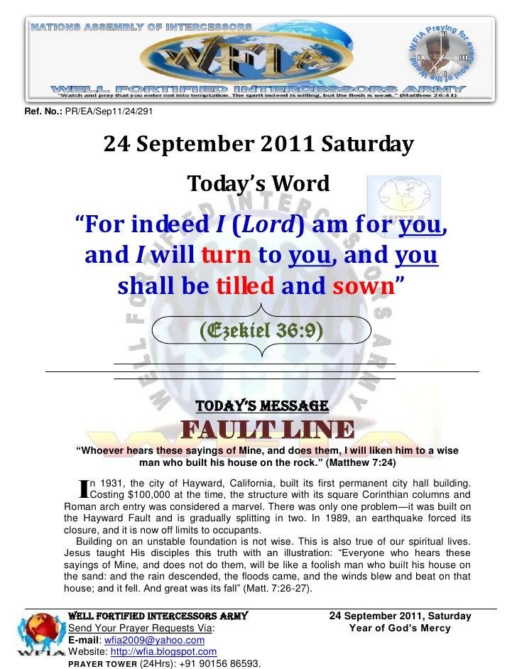 Ref. No.: PR/EA/Sep11/24/291                 24 September 2011 Saturday                                   Today's Word    ...