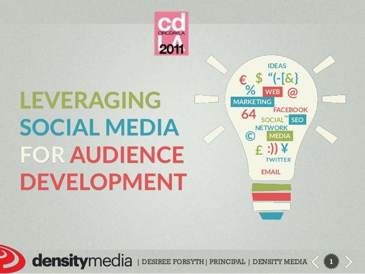 """Ideas<br />$<br />""""(-[&}<br />€<br />%<br />@<br />leveraging<br />Social media<br />foraudience development<br />web<br /..."""