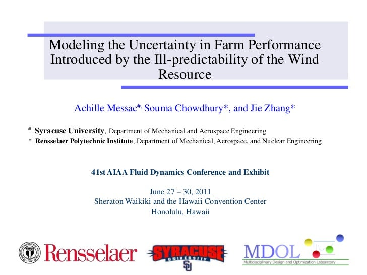 Modeling the Uncertainty in Farm Performance        Introduced by the Ill-predictability of the Wind                      ...