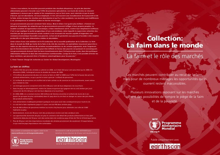 Collection:   La faim dans le monde   La faim et le rôle des marchés   Les marchés peuvent contribuer au recul de la faim,...