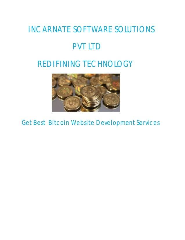 INCARNATE SOFTWARE SOLUTIONS PVT LTD REDIFINING TECHNOLOGY Get Best Bitcoin Website Development Services