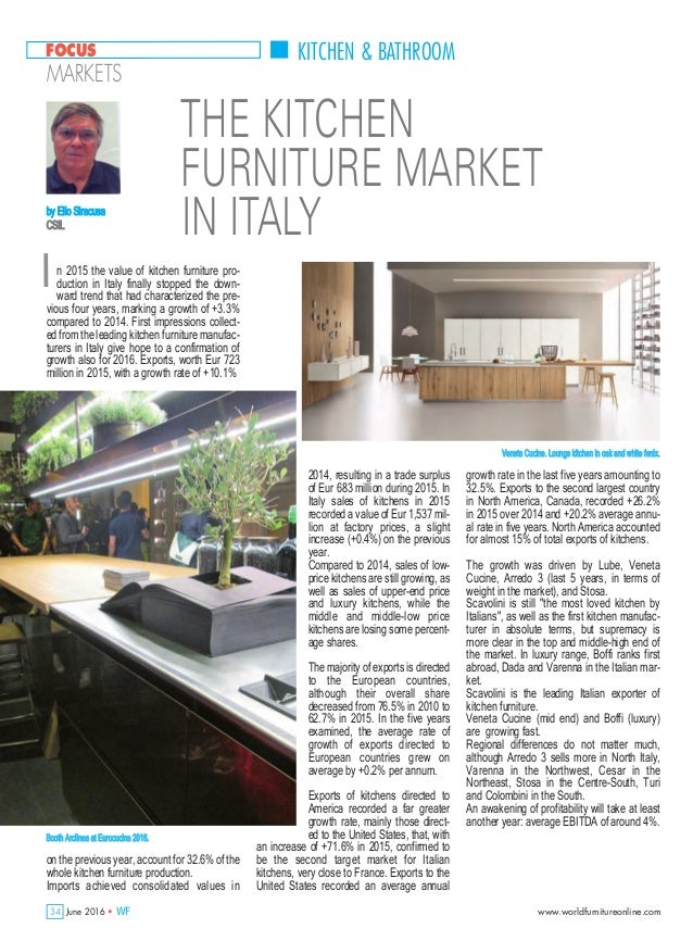 The kitchen furniture market in Italy