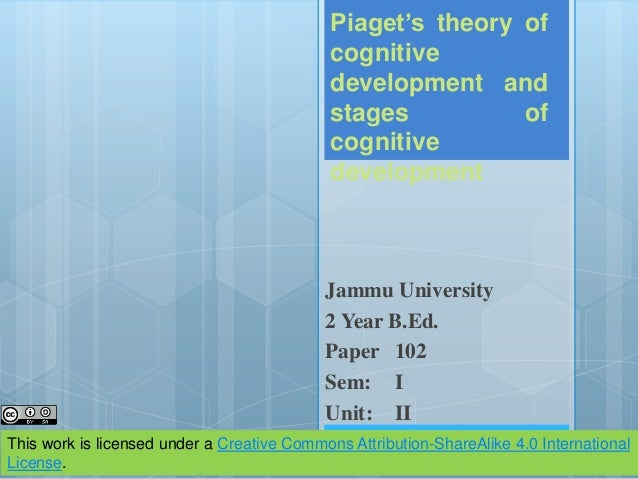 piagets approach to childrens intellectual development essay