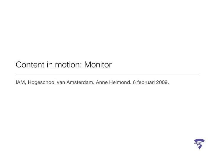 Oriëntatie Nieuwe Media. Werkgroep 1.             Anne Helmond