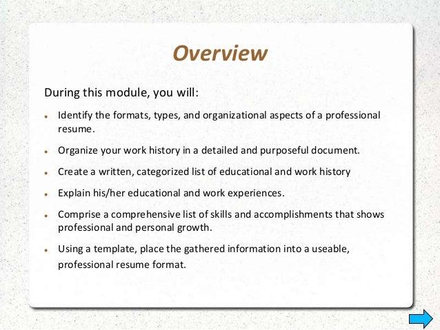 resume types