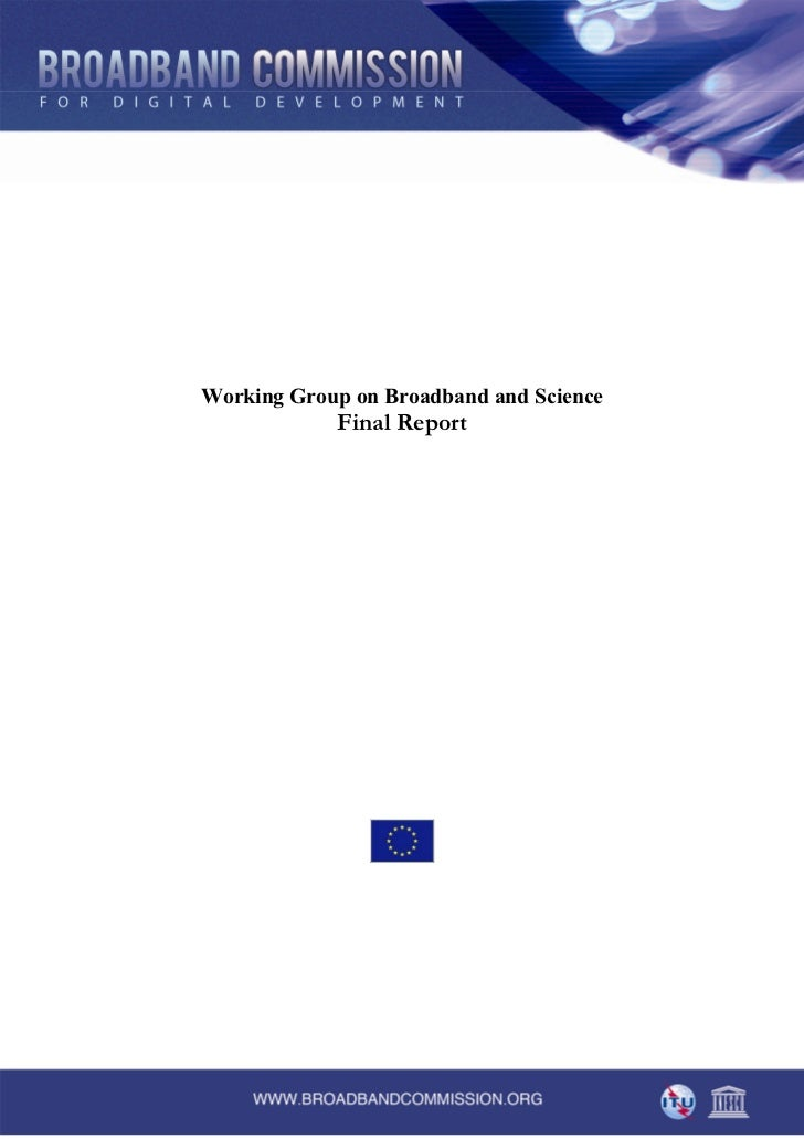 WG broadband science final report