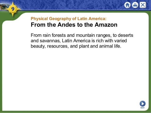 Physical Geography of Latin America: From the Andes to the Amazon From rain forests and mountain ranges, to deserts and sa...