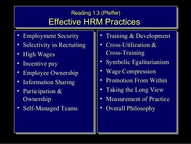 best hrm practices Hrm practices in subsidiaries of us convergence to a world-wide best practices model is clearly hrm practices in subsidiaries of us, japanese and german.