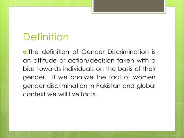 discrimination and gender notes Information about sex / gender discrimination provided by job and employee rights advocacy organization workplace fairness  note that: employers may not reduce .