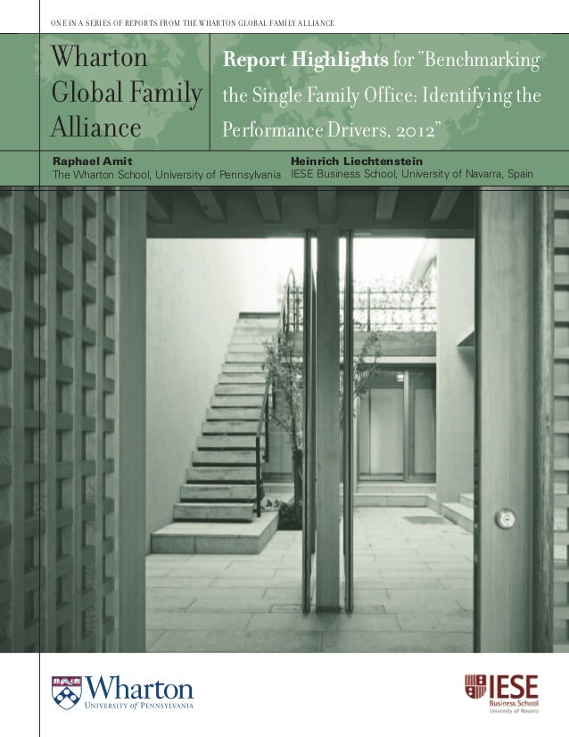 Wharton Single Family Office benchmark