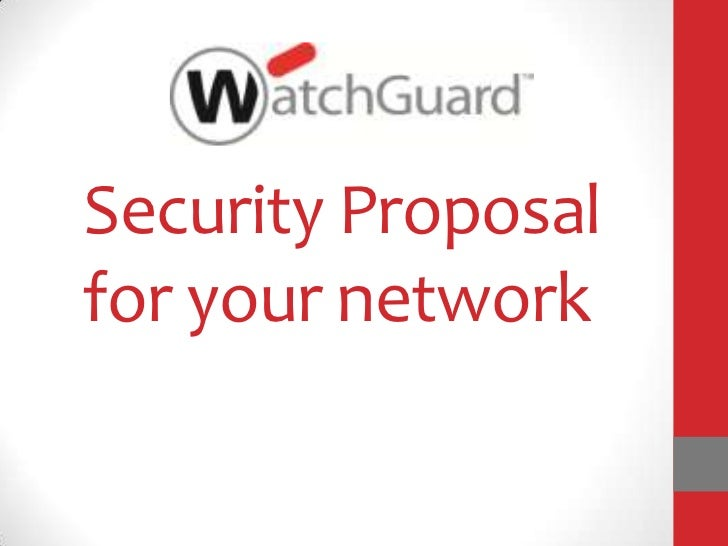 Security Proposalfor your network
