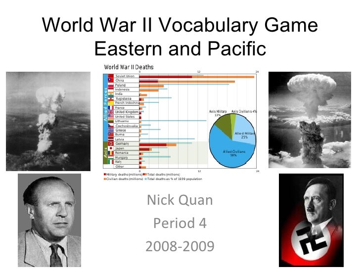 World War II Vocabulary Game     Eastern and Pacific          Nick Quan           Period 4          2008-2009
