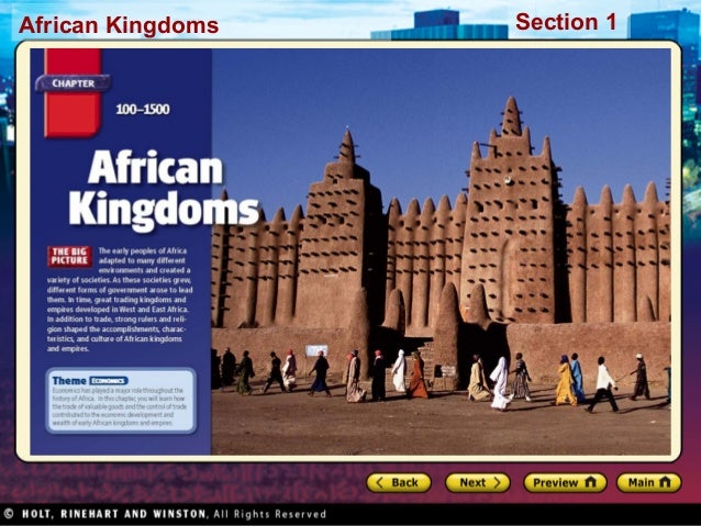 African Kingdoms  Section 1
