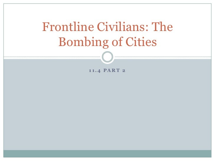 Wh11.4 bombing cities