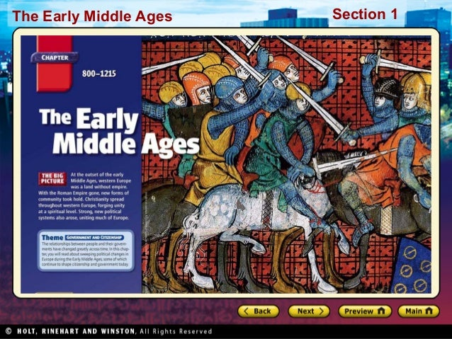 The Early Middle Ages  Section 1