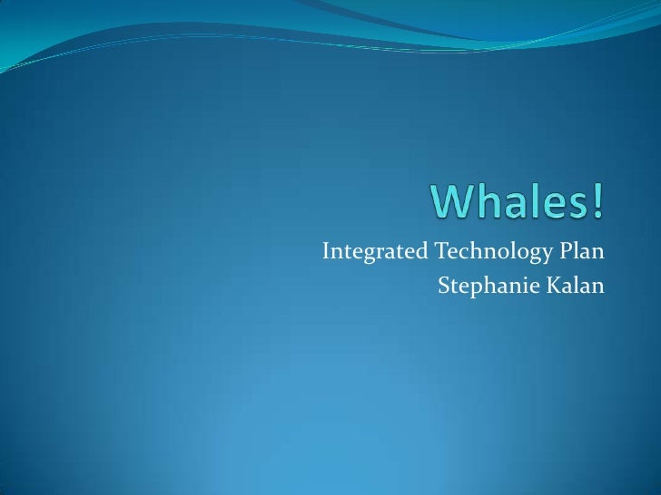 Whales!<br />Integrated Technology Plan<br />Stephanie Kalan<br />