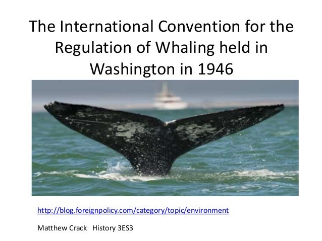 The International Convention for the Regulation of Whaling held in Washington in 1946 http://blog.foreignpolicy.com/catego...