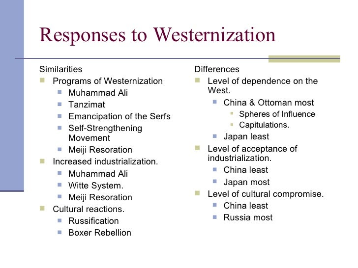 compare differing responses to industrialization in japan and russia