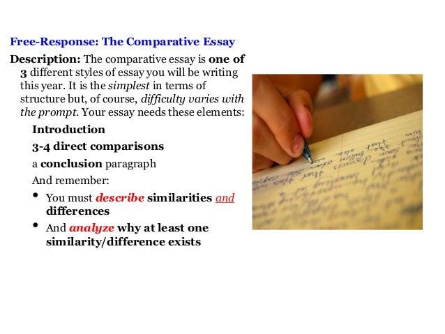 rhetorical analysis compare