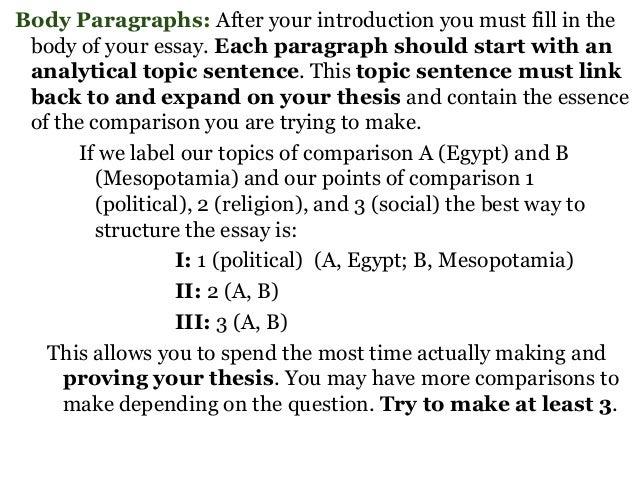 comparison essay intro