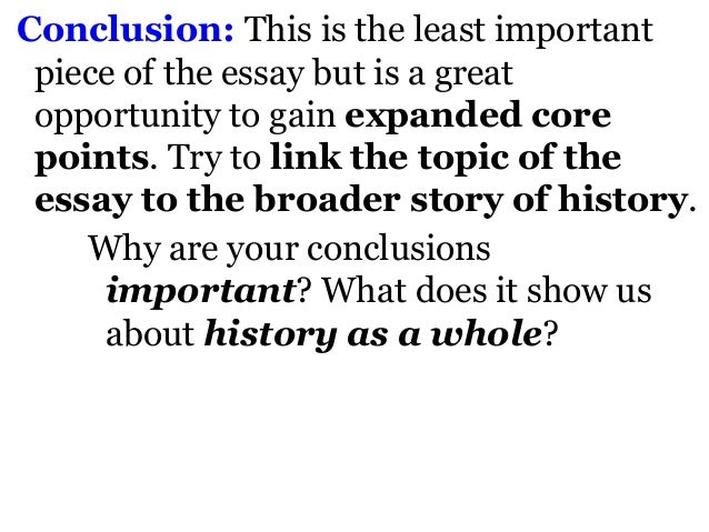 Need help on concluding a comparison essay?