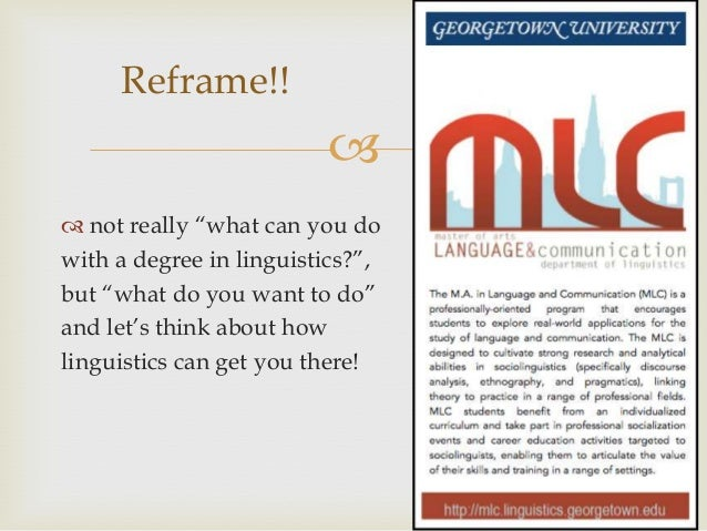 What can I do with a degree in linguistics?