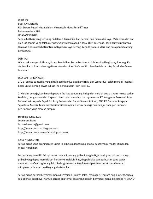 What the BEST FARMERs do Kiat Sukses Petani Hebat dalam Mengubah Hidup Petani Timor By Leonardus NANA UCAPAN SYUKUR Semua ...