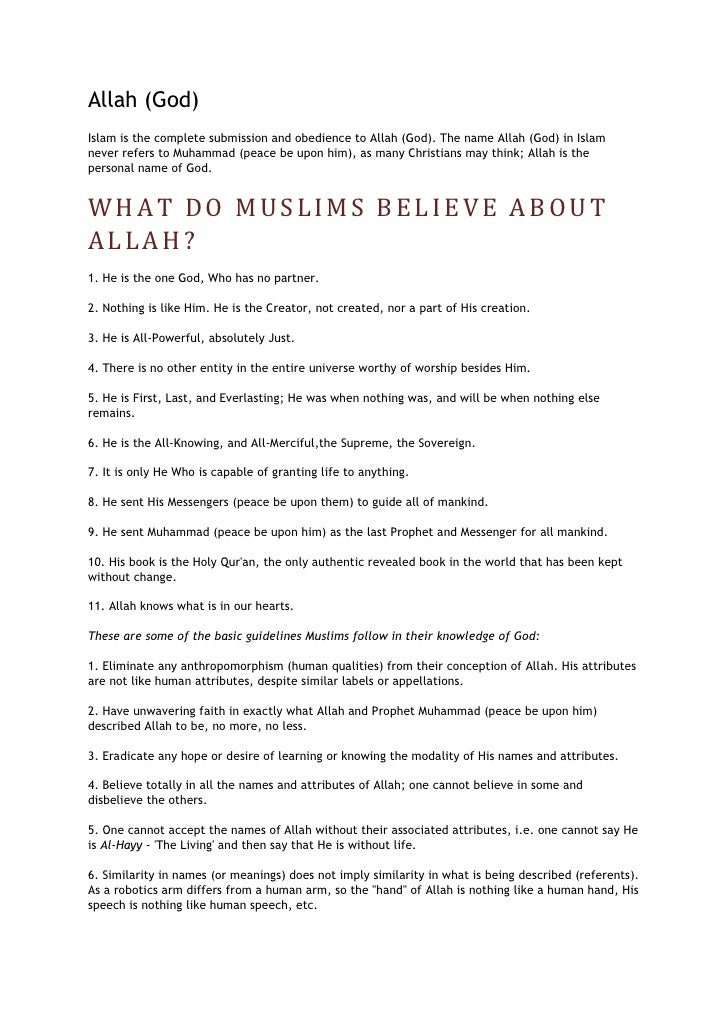 What Do Muslims Believe About Allah