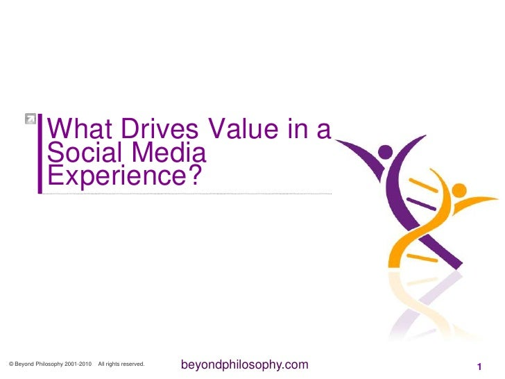 What Drives Value in a Social Media Experience?<br />© Beyond Philosophy 2001-2010    All rights reserved.<br />1<br />