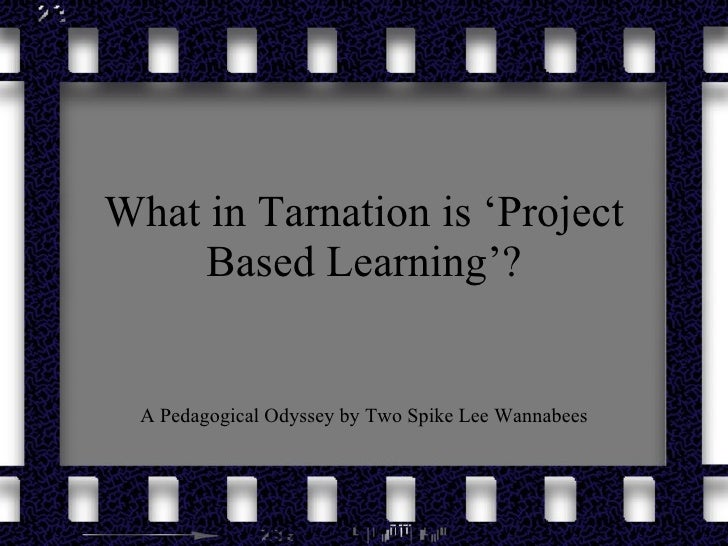 What in Tarnation is 'Project Based Learning'? A Pedagogical Odyssey by Two Spike Lee Wannabees
