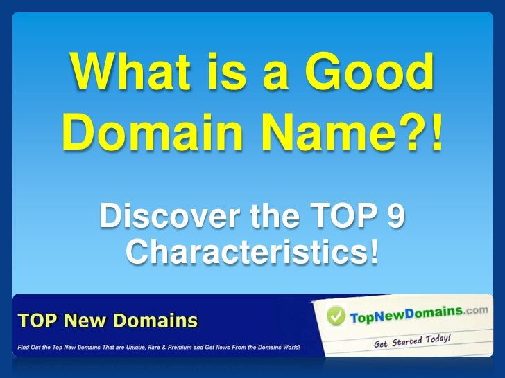 What is a Good Domain Name?