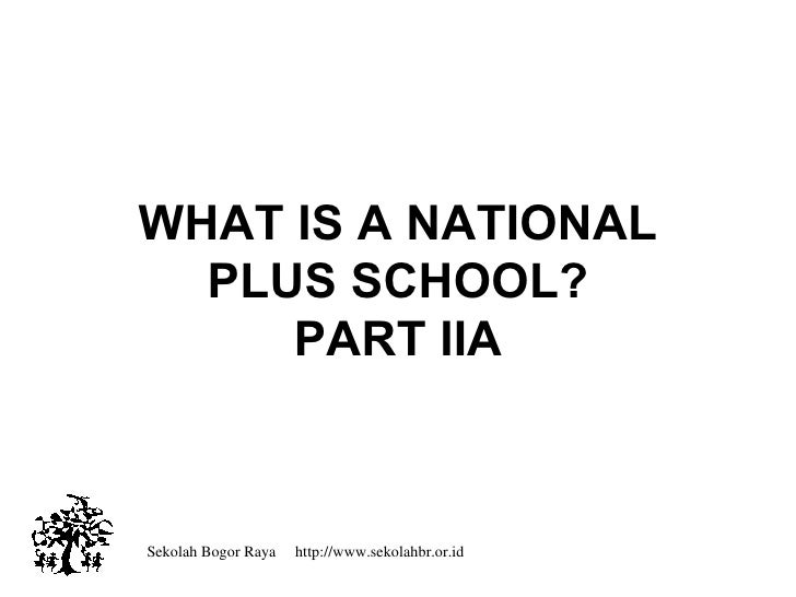 What Is A National Plus School Iia
