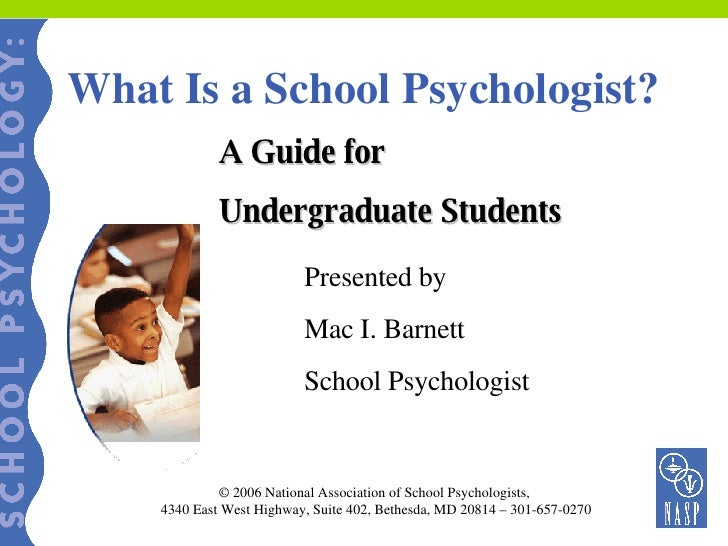 What Is A School Psychologist Powerpoint