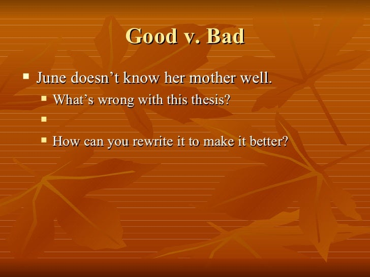 good boss vs bad boss thesis statement