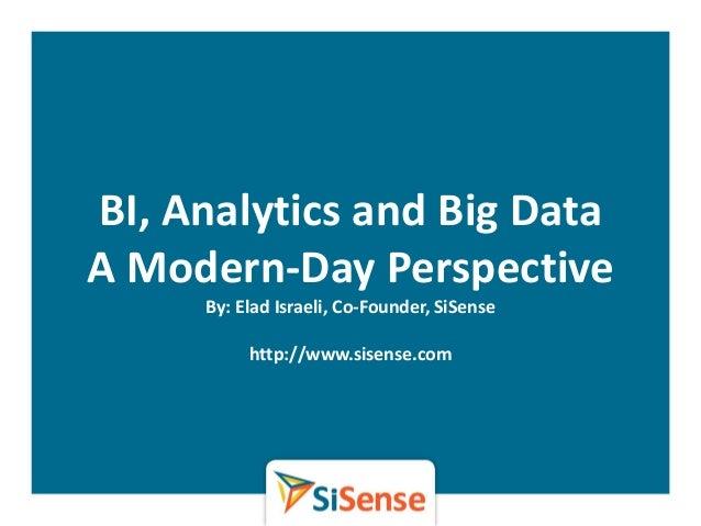 What is bi analytics and big data