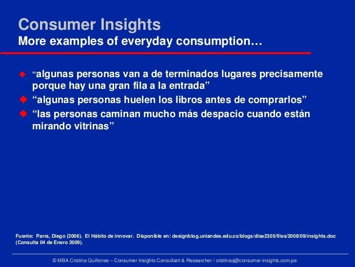 an essay on how consumer insight
