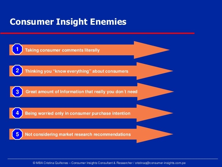Penetrate consumers mind